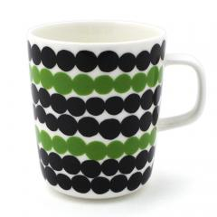 マリメッコ marimekko シイルトラプータルハ Siirtolapuutarha マグカップ 063296-196 ホワイト ブラック グリーン