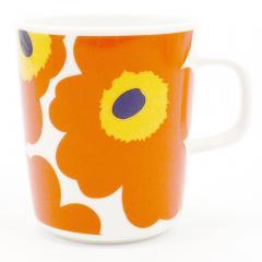 マリメッコ ウニッコ マグカップ  063431-124 オレンジ 250ml