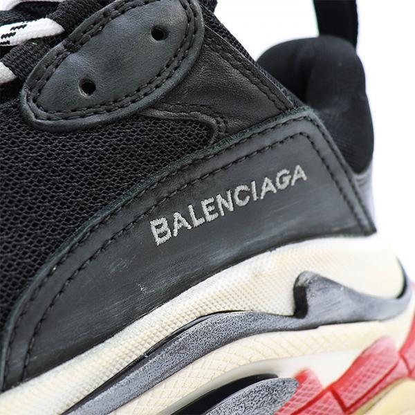 best sneakers 8763e da22d バレンシアガ BALENCIAGA スニーカー W09O1 1000 BLACK/RED 41