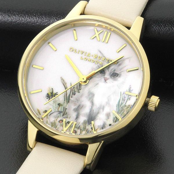 オリビアバートン OLIVIA BURTON アニマルビーガン OB16WL67 ホワイト ライトベージュベルト レディース 時計 ウォッチ