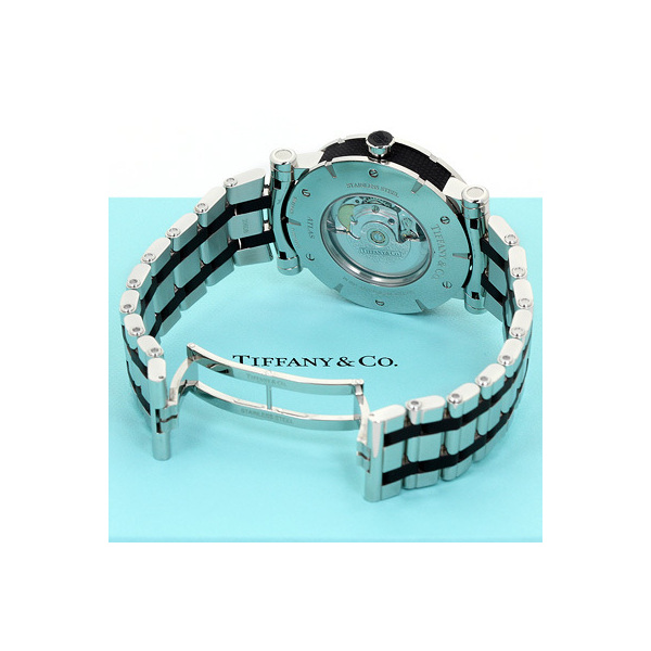 on sale bf343 45cbc INT-23ティファニー アトラス メンズ Z1000.70.12A10A00A:ブラック&グレー 時計/ウォッチ