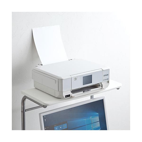 パソコンラック 幅60cm キャスター付き ホワイト 100-DESK016WN