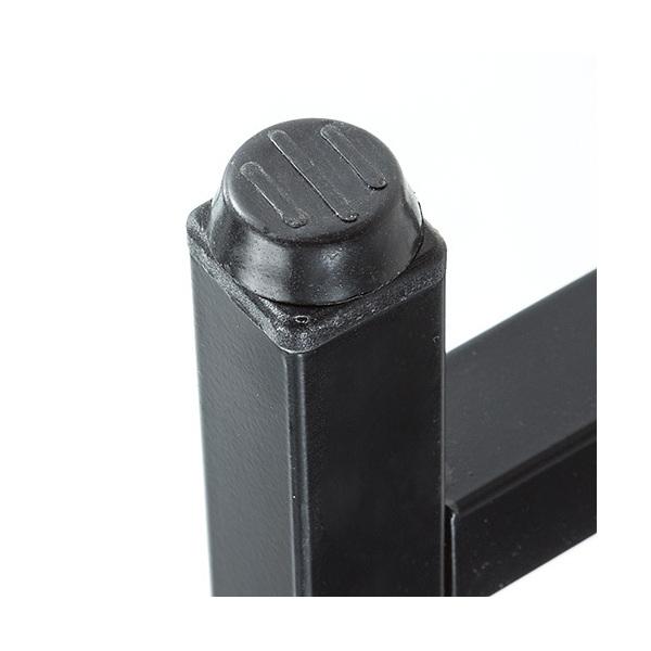 収納ラック付き パソコンデスク 幅100cm ブラック 100-DESKH021BK