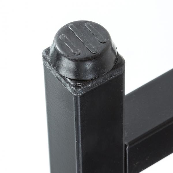 収納ラック付き デスク 幅120cm ブラック 100-DESKH022BK
