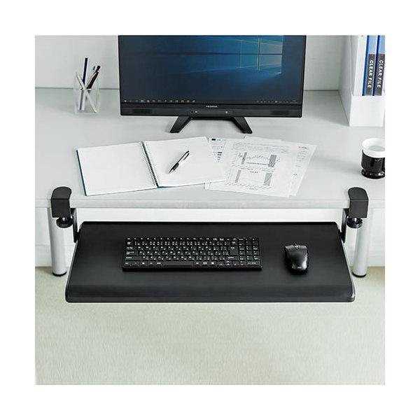 キーボードスライダー 幅70cm クランプ固定 キーボード マウス収納 100-KB003