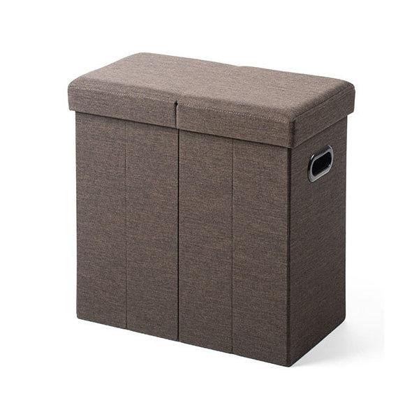 折り畳み 収納スツール ブラウン 150-SNCBOX12BR