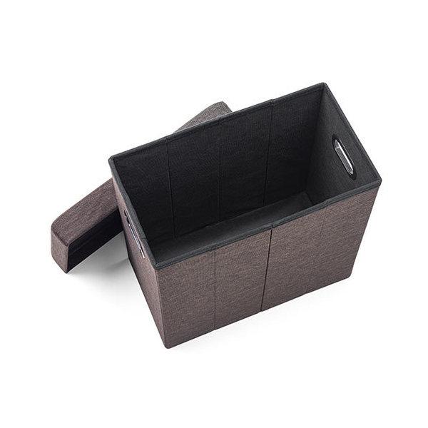 折り畳み 収納スツール レッド 150-SNCBOX12R