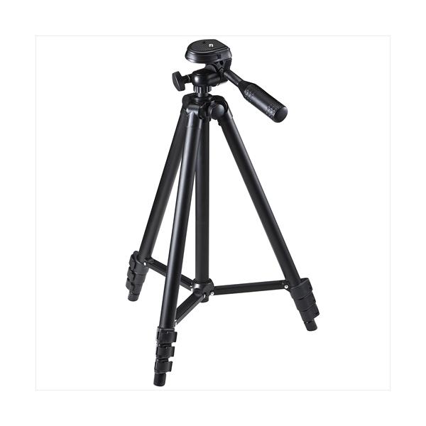 カメラ三脚 4段伸縮 耐荷重1.5kg アルミ製 200-CAM021N