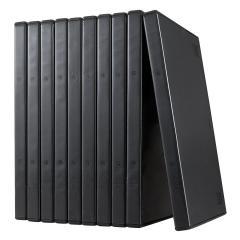 DVDトールケース 1枚収納 10枚セット ブラック 200-FCD032BK
