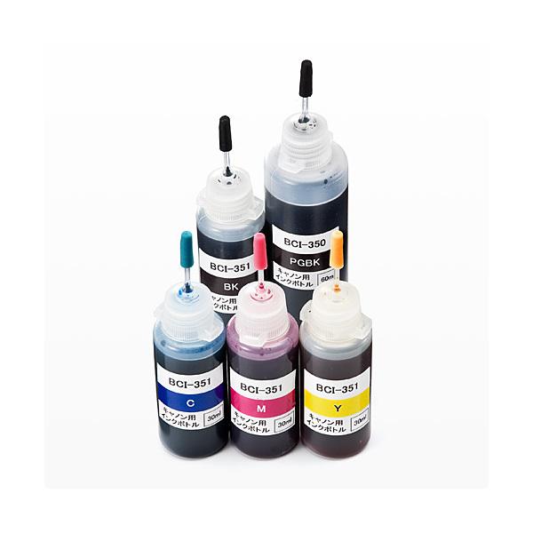 詰め替えインク(300-C350S6C/C350S5C用・キャノン BCI-351・350対応5色セット) 300-C350S5