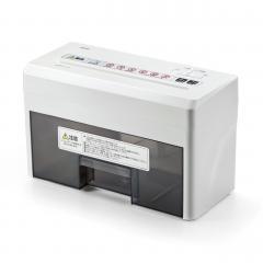電動 卓上シュレッダー A4書類 2枚細断 連続8分 400-PSD025