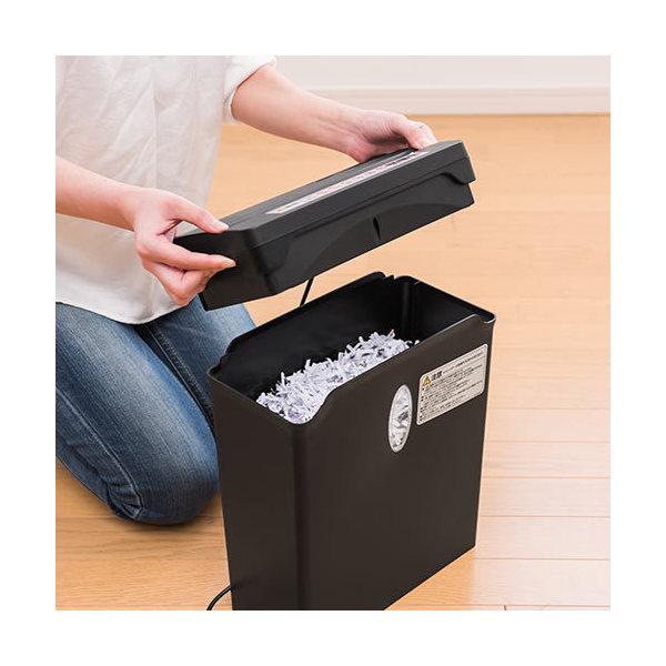 家庭用 電動シュレッダー クロスカット 4×33mm 6枚細断 400-PSD030