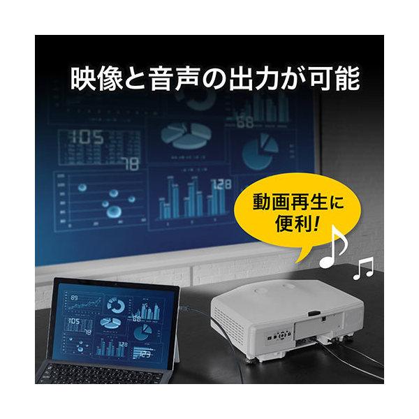 Mini DisplayPort - DisplayPort 変換ケーブル 3m 4K/60Hz対応 DisplayPort Ver1.2準拠 500-KC027-3