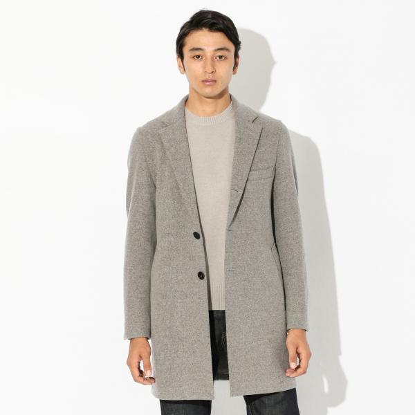 〈Flat-Seam Coat〉チェスターコート/グレー/M