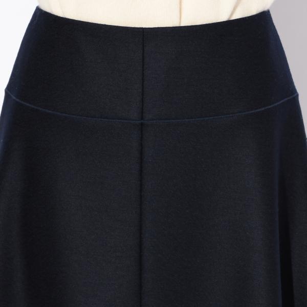 【WOMENS】ウールスムース スカート/ネイビー/36