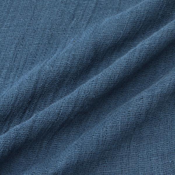 【わたつむぎ】藍染め和綿ストール/ネイビー/-