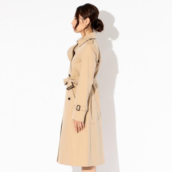 【WOMENS】<100年コート>ロングトレンチコート/カーキ/36