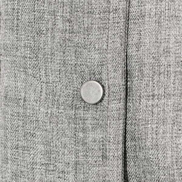 【機能性中わた】ウールライクヘリンボン吸湿発熱わた×ダウンコート/グレー/38