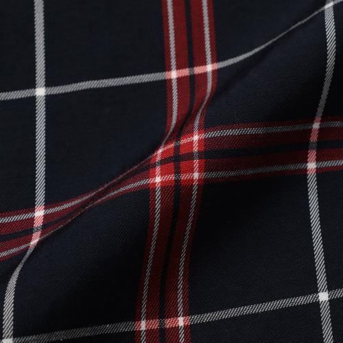 【ウォッシャブル】キュプラコットンウォッシャブルチェック2WAYシャツ/グリーン/38