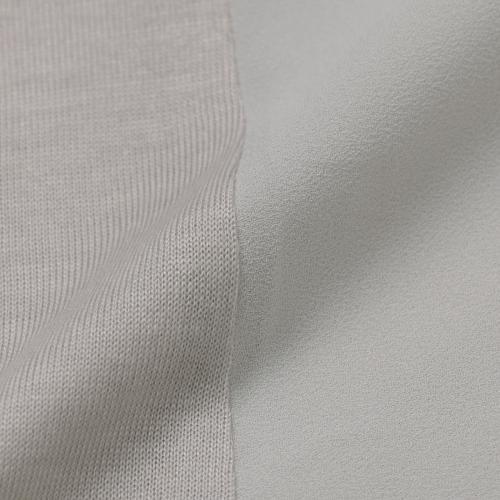 【ウォッシャブル】リヨセルウールシルケット天竺カットソーコンビチュニックブラウス/グリーン/38