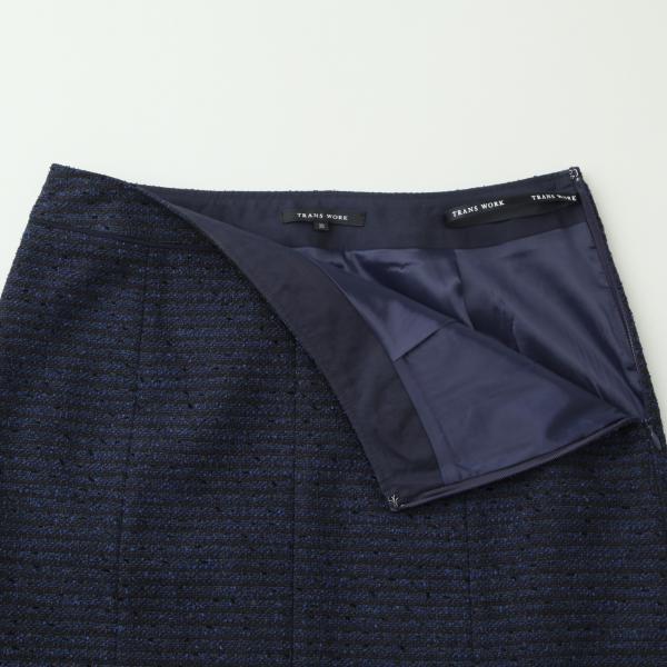 プラチナツイードスカート/ネイビー/38