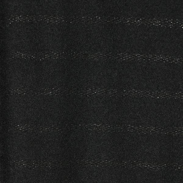 ウールラメボーダードレス/グレー/40