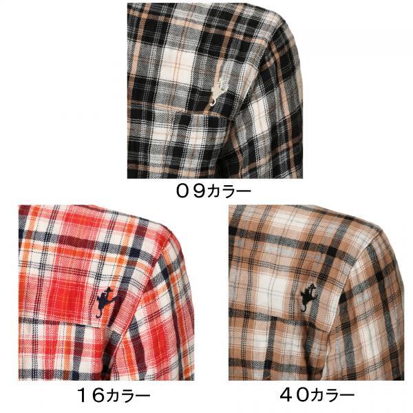 DEVEAUXチェック シャツ/ブラック/42