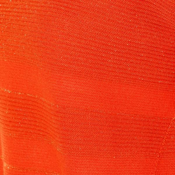 ブロッキングラメボーダーニット/オレンジ/42