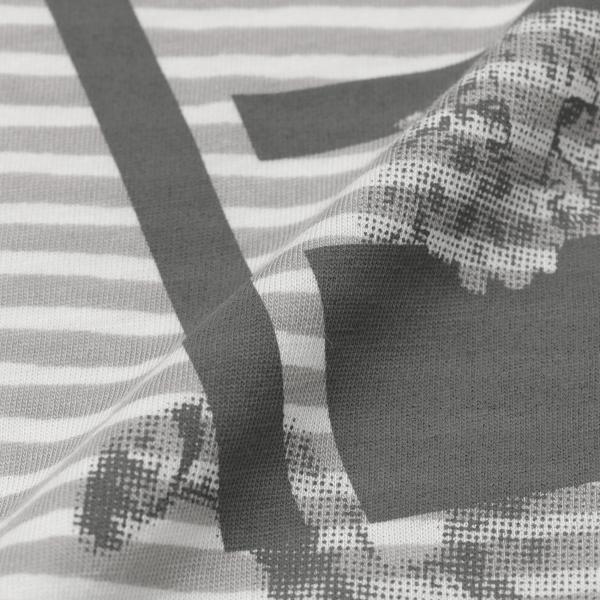 【ウォッシャブル】ボーダープリントチュニックカットソー/レッド/40
