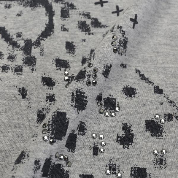 【ウォッシャブル】オーガニックコットンメッセージロゴカットソー/レッド/42