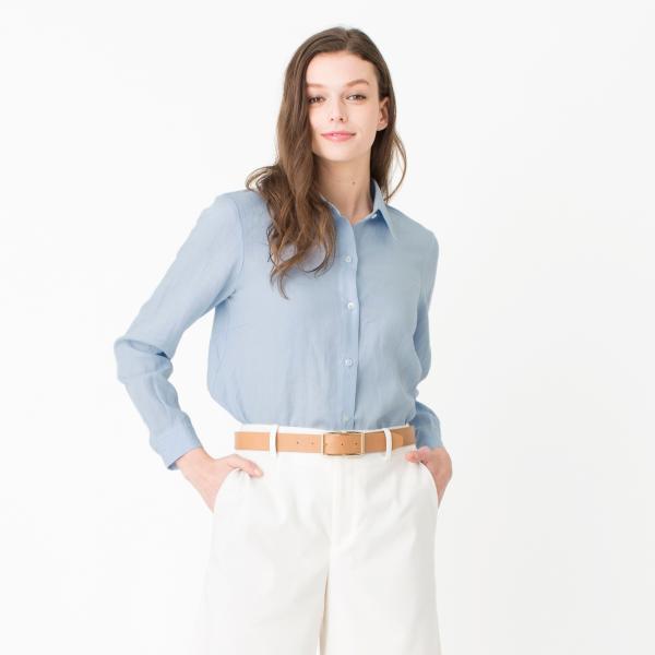 SOLBIATI LINENシャツ/ブルー/38