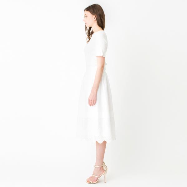 【ウォッシャブル】エンブロイダリーギャザースカート/オフホワイト/36