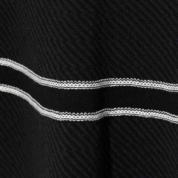 ツイルジャカードニットスカート/ブラック/40
