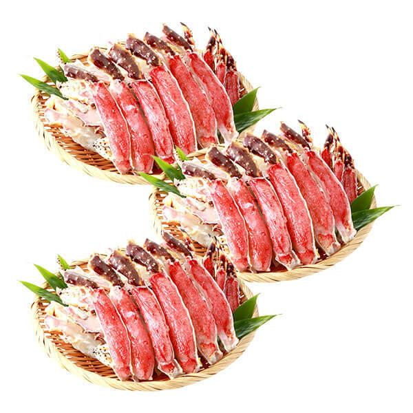 カニ タラバガニ 生 蟹 2.4kg ハーフポーション 鍋 加熱調理用 冷凍 送料無料