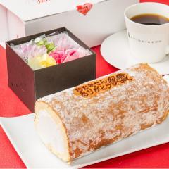 生花とロールケーキのセット 母の日 ロールケーキ 生花 ケーキ スウィーツ ギフト 贈り物