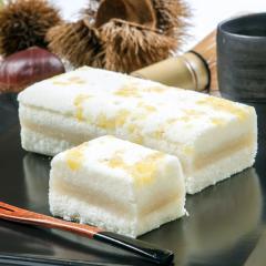 新杵堂 栗粒を散りばめた豆乳ケーキ「栗ふわふわ」 1本