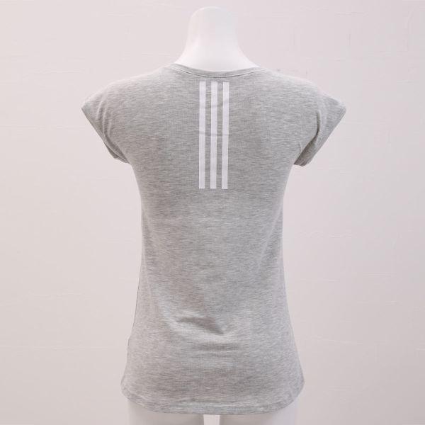 【メール便(12)】 (アディダス)adidas フレンチスリーブ 半袖 Tシャツ 吸汗速乾 綿混 ベーシックライン レディース