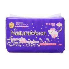 (ナチュラムーン)Natura Moon 生理用ナプキン 多い日の夜用(羽つき) 29cm 10個 レディース