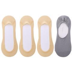 (ココピタ)KOKOPITA 脱げないココピタ フットカバー 浅履き 3足組 + 深履き(オマケ)1足セット 23-25cm レディース