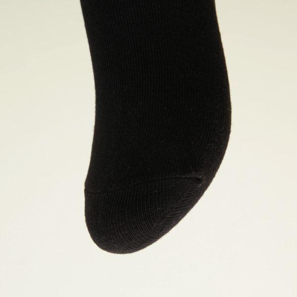 【メール便(30)】 (ミズノ)MIZUNO レディースワンポイント刺繍ソックス クルー丈 婦人靴下 3足組 強くて丈夫 スポーツ 定番 黒