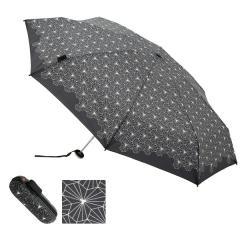 【Tポイント10%還元】Knirps X1 (クニルプス) 折り畳み傘(8本骨 ケース付 晴雨兼用 UVカット)ロータスブラック