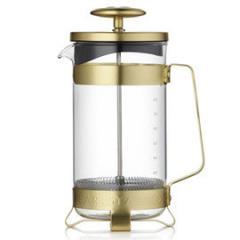 【Tポイント10倍】BARISTA&CO(バリスタアンドコー) 8 Cup Plunge Pot (8カップ プランジポット)Electric Gold
