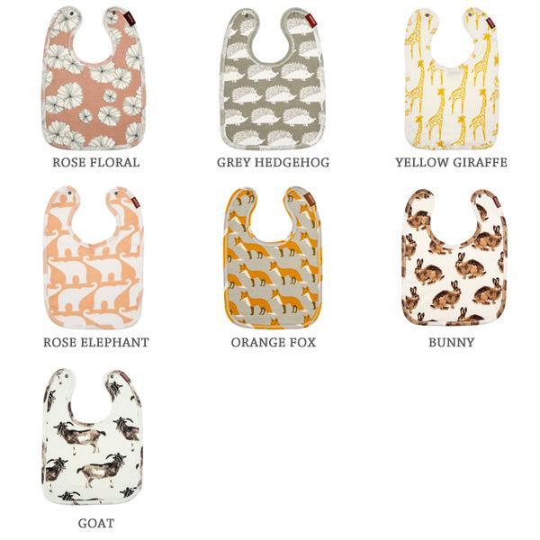 Milkbarn Organic Cotton Traditional Bib Orange Fox Baby Accessories