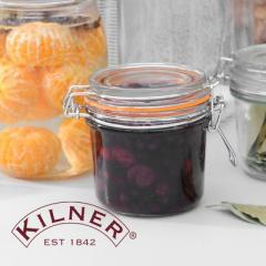 【Tポイント10倍】KILNER(キルナー) ROUND CLIPTOP JAR(ラウンドクリップトップジャー)0.35L
