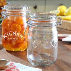 【Tポイント10倍】KILNER(キルナー) ROUND CLIPTOP JAR(ラウンドクリップトップジャー)1L