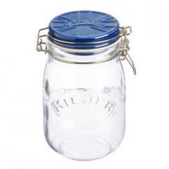 【Tポイント10倍】KILNER(キルナー) CERAMIC LID CLIPTOP JAR(セラミックリッドクリップトップジャー)1.0L ブルー