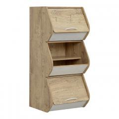 レイアウト自由自在/スタッキング可能 カラーボックス 収納BOX 木製 スタッキングBOX スタッキングボックス おしゃれ 収納ボックス LOG(ログ) ウッドナチュラル/ホワイト