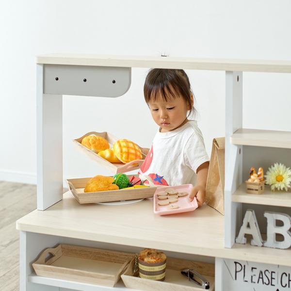 組立品 ままごとキッチン おままごとキッチン お店屋さん お店屋さんごっこ お店やさん お店やさんごっこ ママごと 知育玩具 おもちゃ core+(コアプラス) ウッドナチュラル