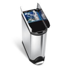 送料無料 simplehuman シンプルヒューマン ペダル式 ゴミ箱 バタフライカン リサイクラー (メーカー直送)(正規品)/40L/ダストボックス*d-M-CW2017*