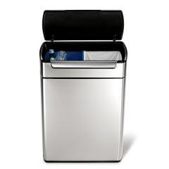 送料無料 simplehuman シンプルヒューマン ゴミ箱 タッチバーカン リサイクル(メーカー直送)(正規品)/48L/CW2018/分別/ダストボックス*d-M-CW2018*